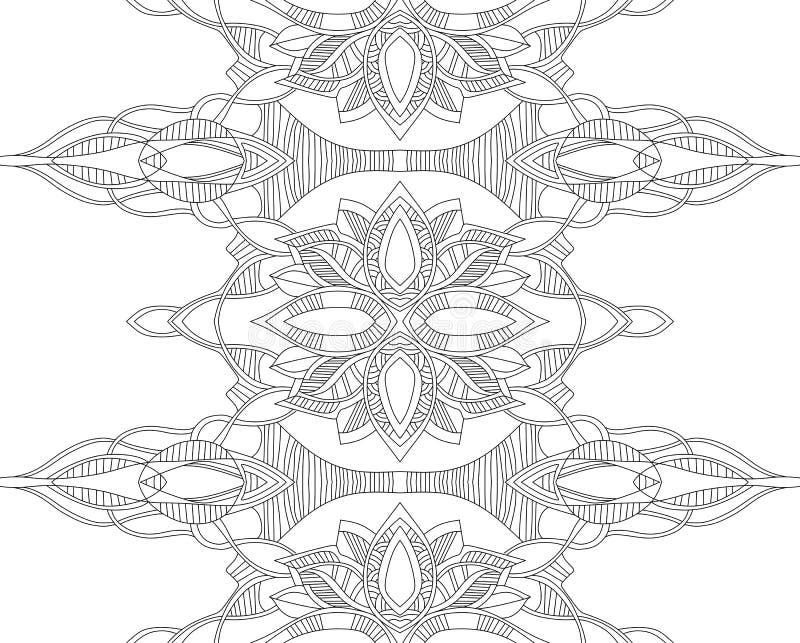 Liniowy dekoracyjny bezszwowy wektoru wzór royalty ilustracja