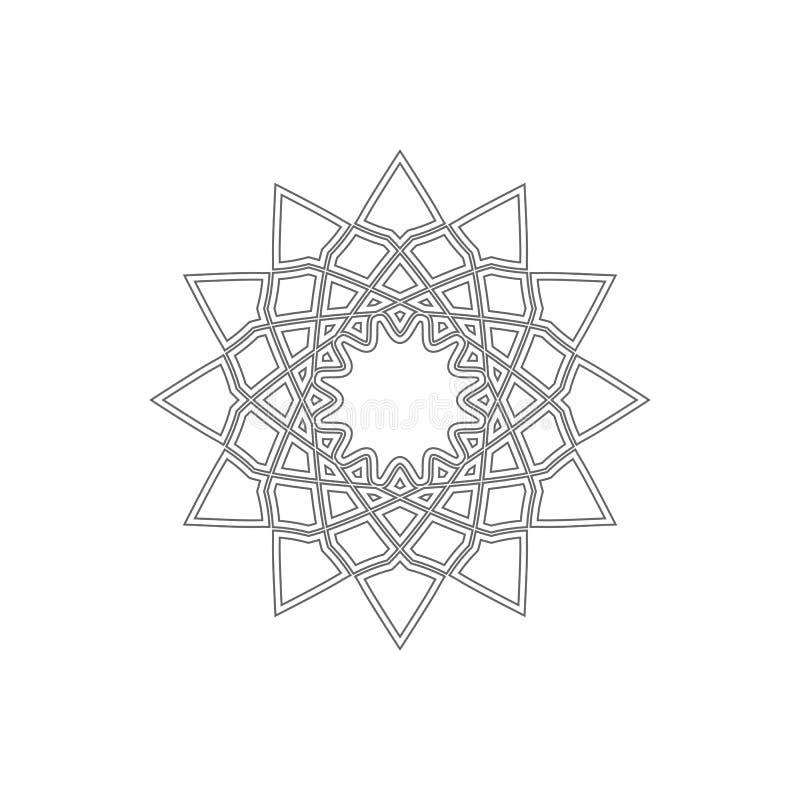 Liniowy geometrical ornament royalty ilustracja