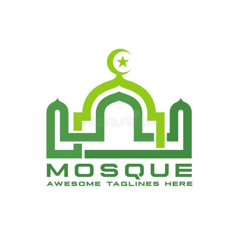 liniowy meczetowy ilustracyjny logo wektor ilustracja wektor