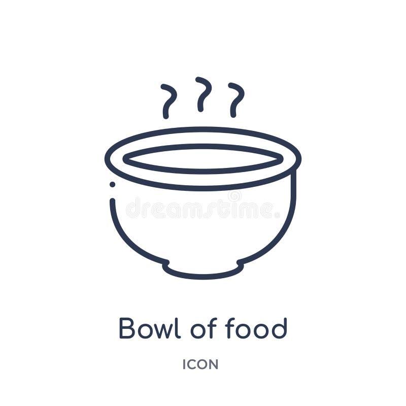 Liniowy puchar karmowa ikona od Karmowej kontur kolekcji Cienki kreskowy puchar odizolowywający na białym tle karmowa ikona Pucha ilustracji