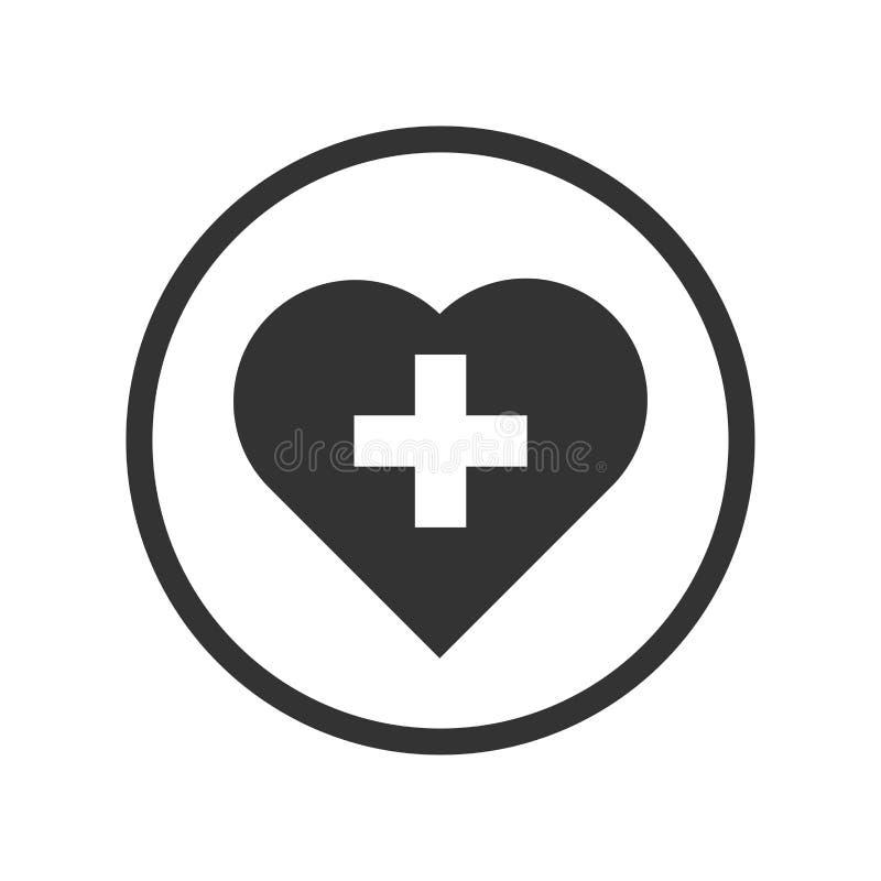 Liniowy serce z przecinającą ikoną - wektorowy ikonowy projekt ilustracja wektor