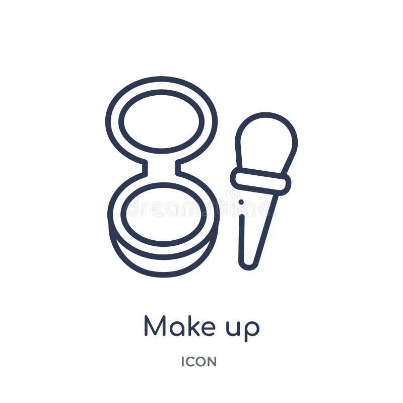 Liniowy uzupełnia ikonę od piękno konturu kolekcji Cienka linia uzupełnia wektor odizolowywającego na białym tle uzupełnia modny ilustracji