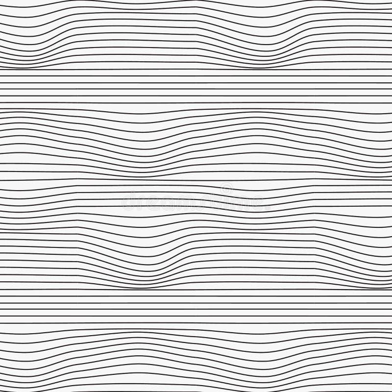 Liniowy wektoru wzór, wielostrzałowa abstrakcjonistyczna niepewna linia prosta, liniowy skręt i chył, Wektorowy czyści projekt dl royalty ilustracja