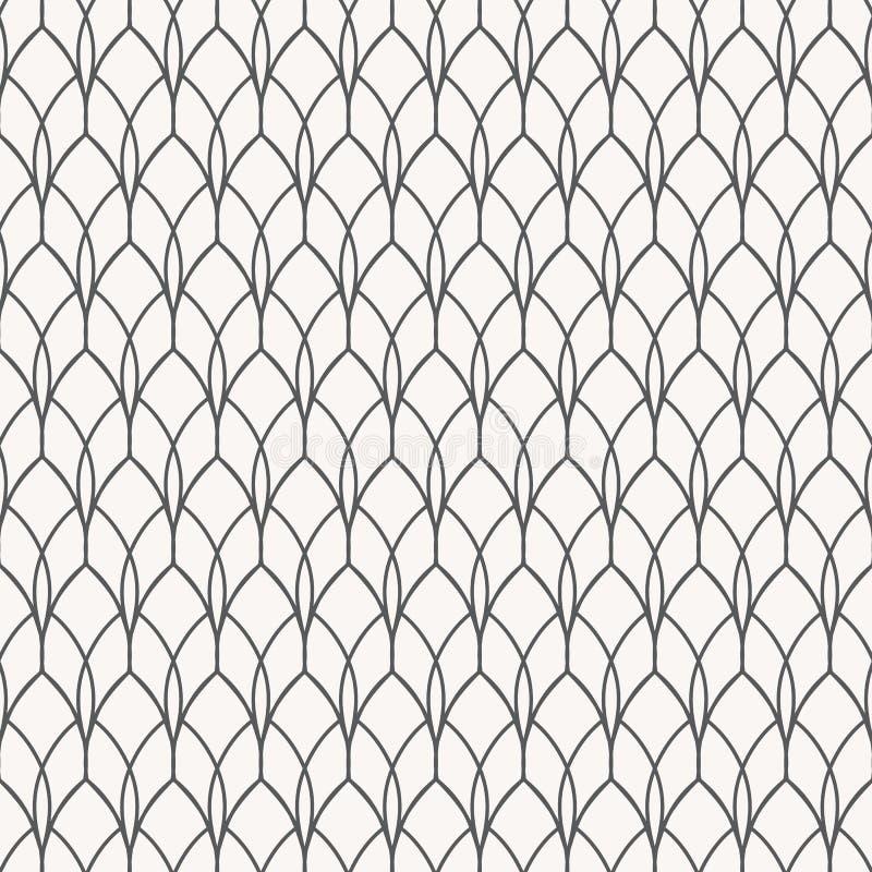 Liniowy wektoru wzór z abstrakcjonistycznym szczytem z geometrii krzywy linią ilustracji