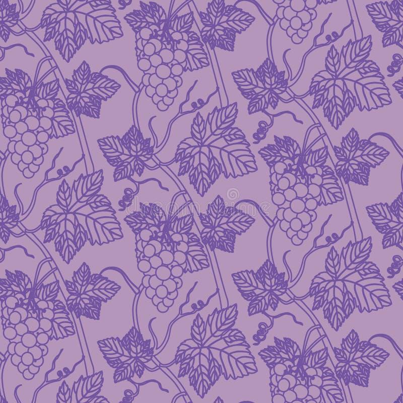 Liniowych winogron bezszwowy deseniowy tło royalty ilustracja