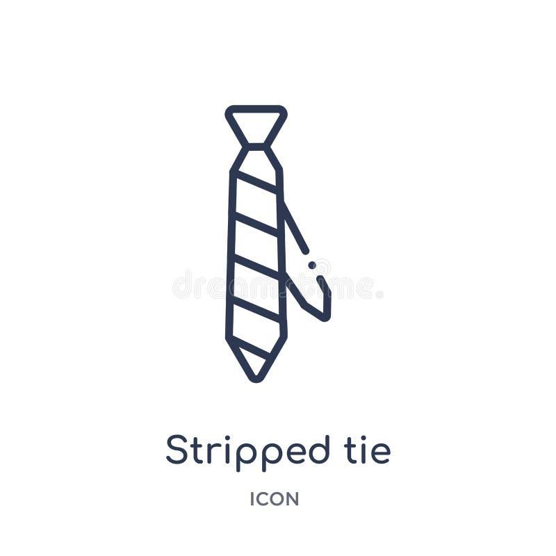 Linjär avriven bandsymbol från modeöversiktssamling Den tunna linjen rev av bandsymbolen som isolerades på vit bakgrund avrivet b vektor illustrationer