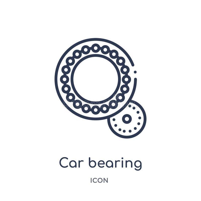 Linjär billagersymbol från samling för bildelöversikt Tunn linje bil uthärda vektorn som isoleras på vit bakgrund billager vektor illustrationer
