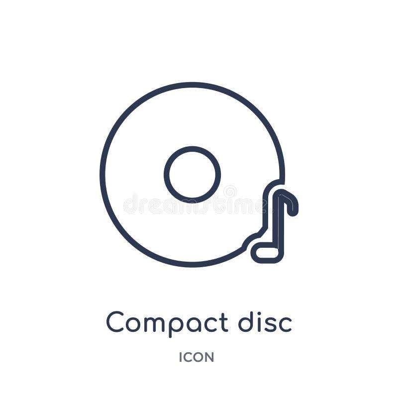 Linjär CD-SKIVAsymbol från elektronisk samling för materialpåfyllningsöversikt Tunn linje CD-SKIVAvektor som isoleras på vit bakg stock illustrationer