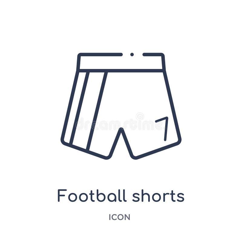 Linjär fotbollkortslutningssymbol från fotbollöversiktssamling Tunn linje fotbollkortslutningsvektor som isoleras på vit bakgrund vektor illustrationer