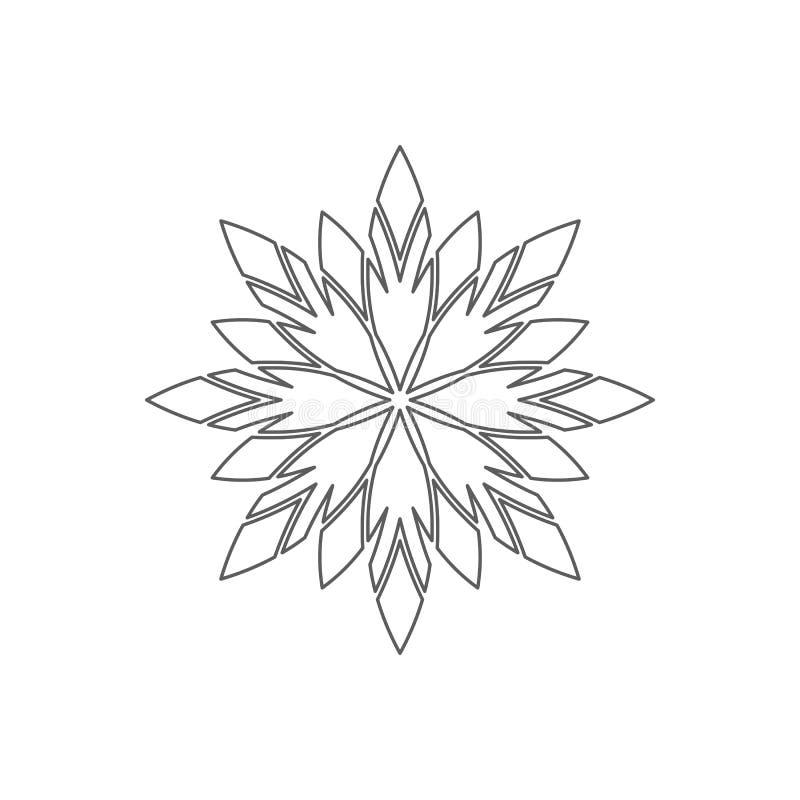 Linjär geometrisk prydnad stock illustrationer