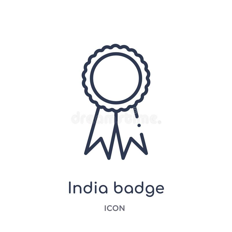 Linjär Indien emblemsymbol från Indien översiktssamling Tunn linje Indien emblemsymbol som isoleras på vit bakgrund moderiktigt I vektor illustrationer
