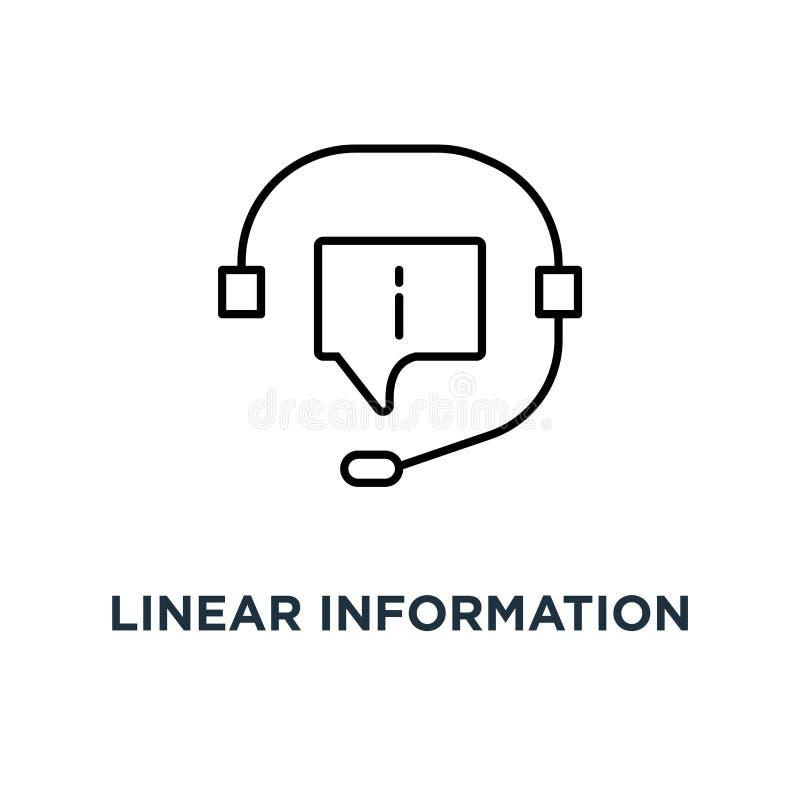 linjär informationsservicesymbol, heta linjen för trend för symbolkonturstil modernt 24/7 eller begrepp för design för crmlogotyp stock illustrationer