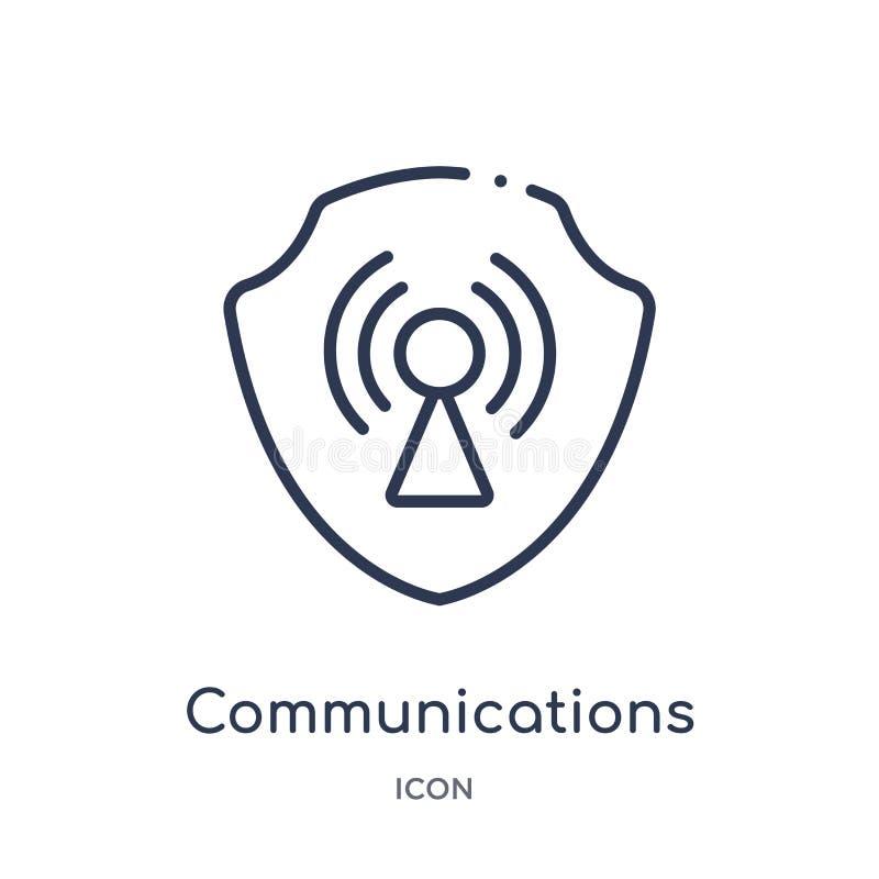 Linjär kommunikationssymbol från Gdpr översiktssamling Tunn linje kommunikationssymbol som isoleras på vit bakgrund vektor illustrationer