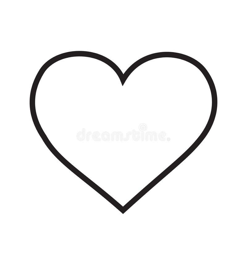 Linjär pictogram för hjärtasymbolsvektor som isoleras på vit vektor illustrationer