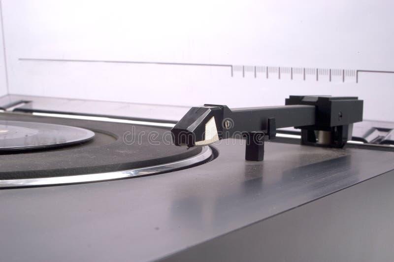 linjär spåring turntable arkivbild