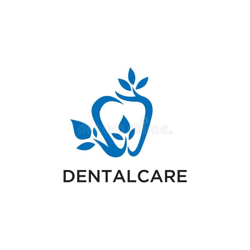 Linjär stil för tand- mall för klinikLogo Tooth abstrakt design Symbol för begrepp för medicinsk doktor Logotype för tandläkarest stock illustrationer