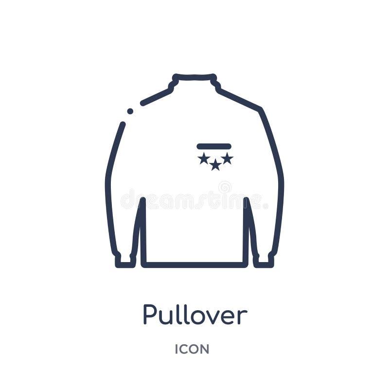 Linjär sweatersymbol från kläderöversiktssamling Tunn linje sweatervektor som isoleras på vit bakgrund moderiktig sweater vektor illustrationer