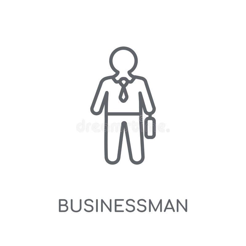 Linjär symbol för affärsman Modernt begrepp för översiktsaffärsmanlogo royaltyfri illustrationer