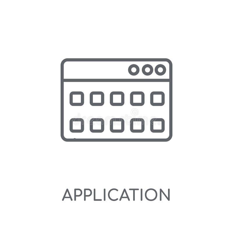 Linjär symbol för applikation Modernt begrepp för översiktsapplikationlogo royaltyfri illustrationer