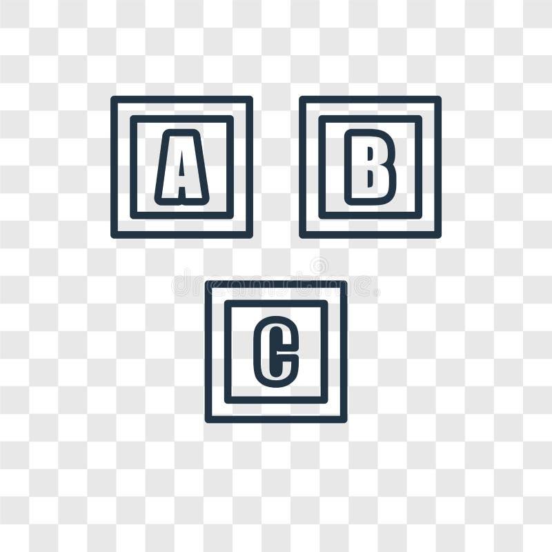 Linjär symbol för Crechebegreppsvektor som isoleras på genomskinlig backgr vektor illustrationer