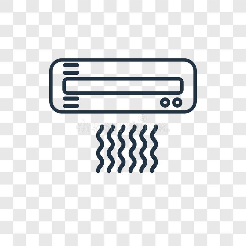 Linjär symbol för cykelbegreppsvektor som isoleras på genomskinlig backg royaltyfri illustrationer