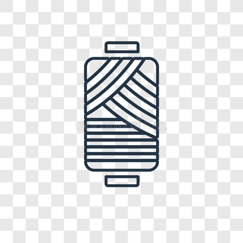 Linjär symbol för cylindrisk lampbegreppsvektor som isoleras på transpar royaltyfri illustrationer