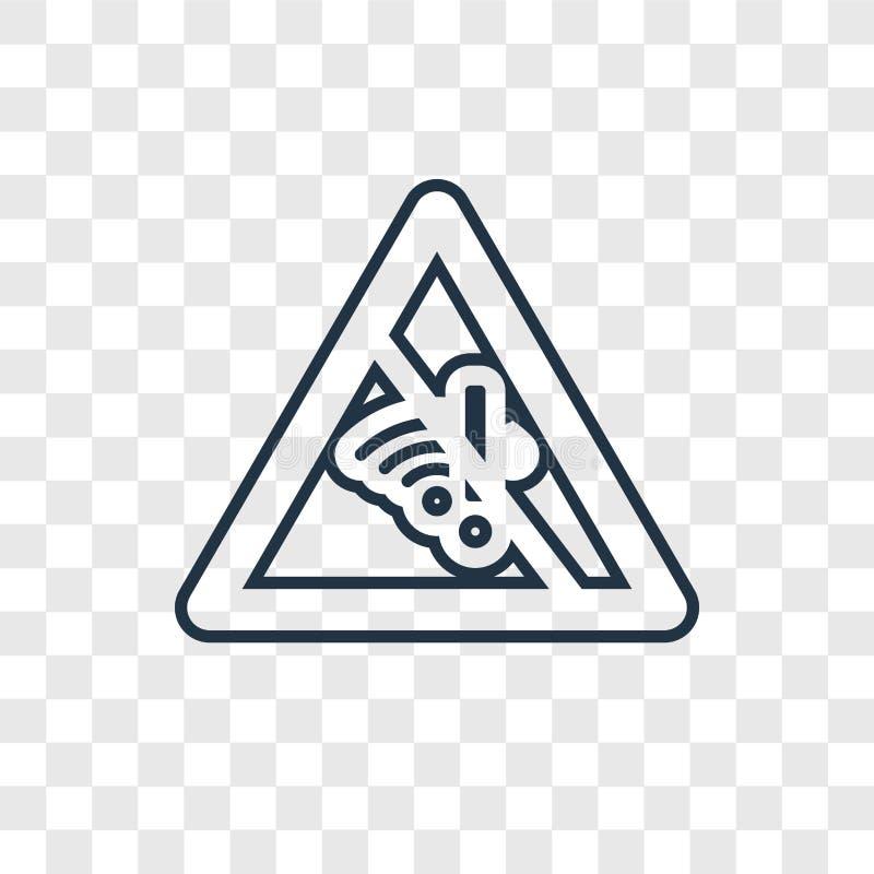 Linjär symbol för dödbegreppsvektor som isoleras på genomskinlig backgro vektor illustrationer