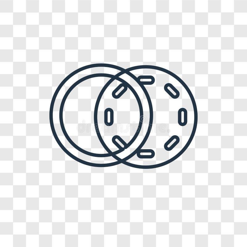 Linjär symbol för diagrambegreppsvektor som isoleras på genomskinlig baksida stock illustrationer