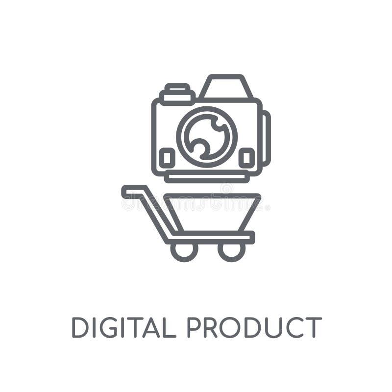 linjär symbol för digital produkt Digital produktlogo för modern översikt stock illustrationer