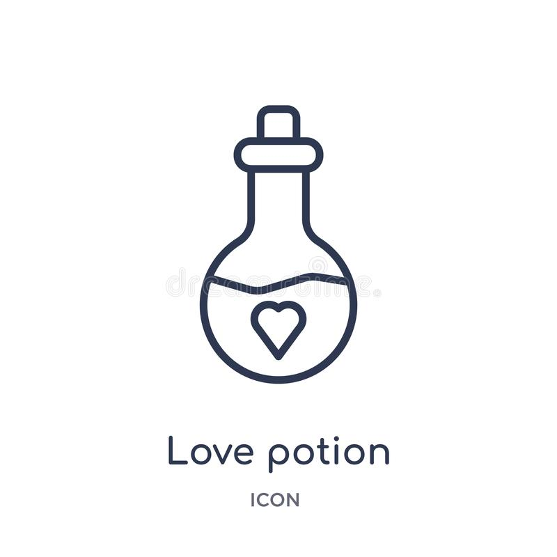 Linjär symbol för förälskelsedryck från samling för översikt för födelsedagparti Tunn linje vektor för förälskelsedryck som isole vektor illustrationer