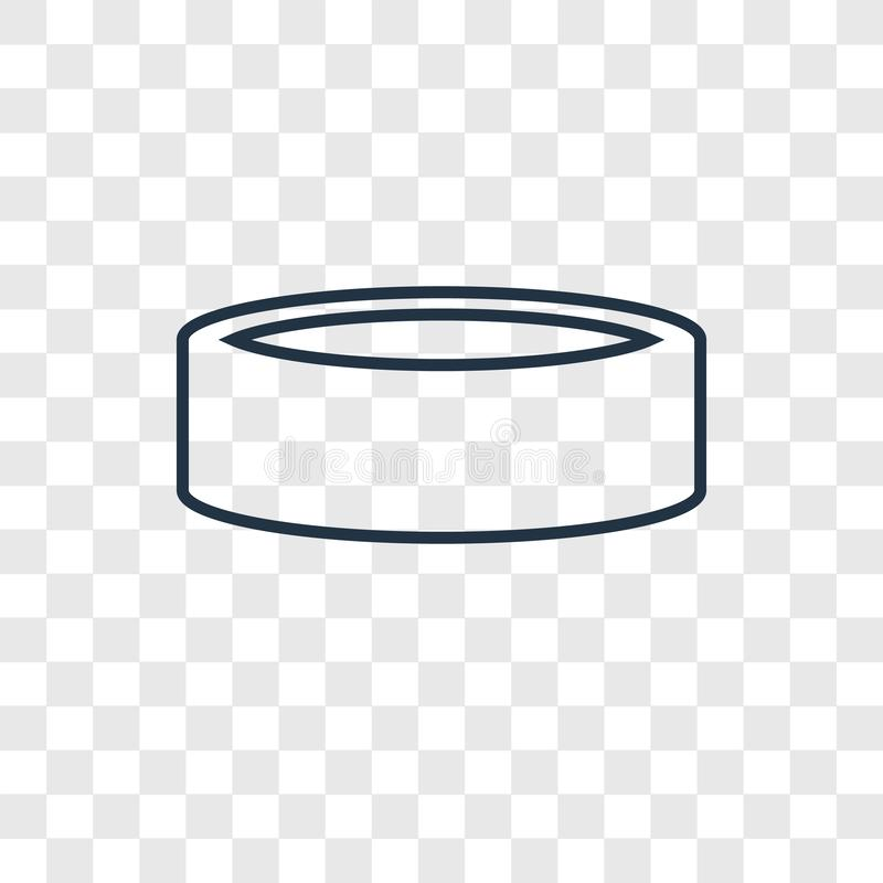 Linjär symbol för flåsandebegreppsvektor som isoleras på genomskinlig backgro royaltyfri illustrationer