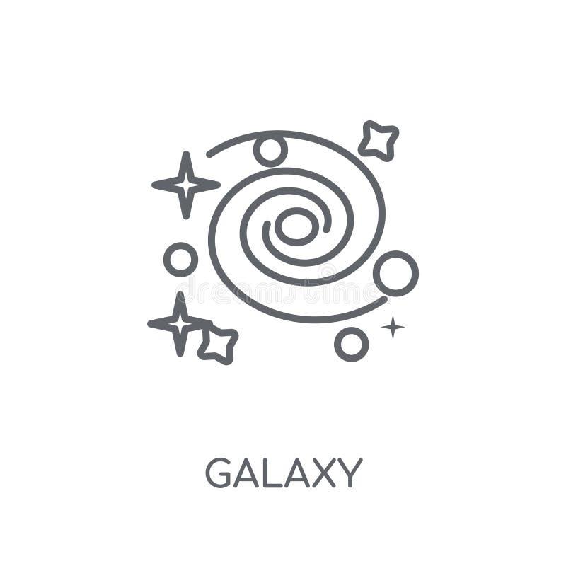 Linjär symbol för galax Modernt begrepp för översiktsgalaxlogo på vit vektor illustrationer