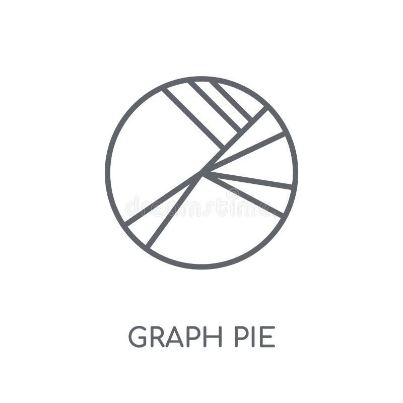 Linjär symbol för grafpaj Modernt begrepp för logo för översiktsgrafpaj på stock illustrationer