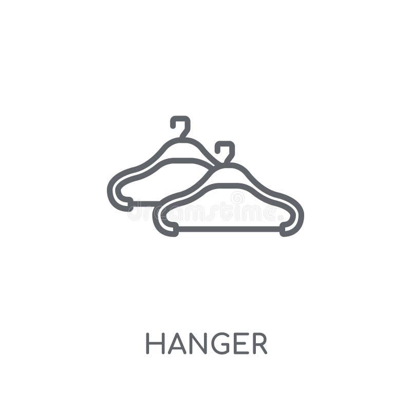 Linjär symbol för hängare Modernt begrepp för översiktshängarelogo på vit vektor illustrationer