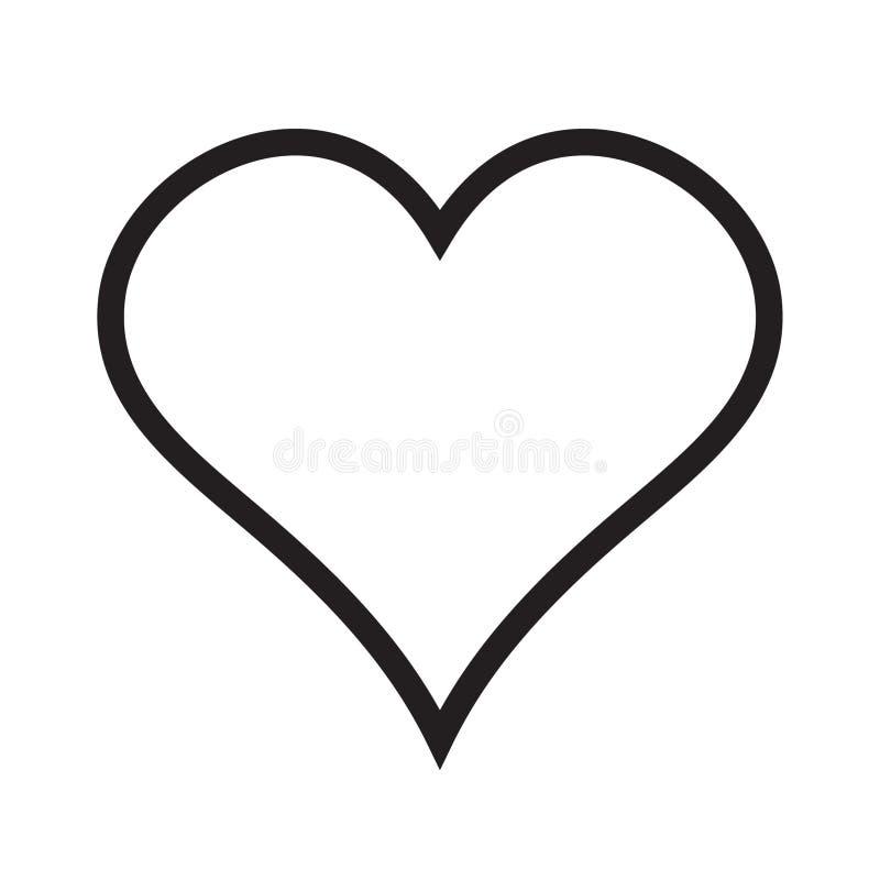 Linjär symbol för hjärta, förälskelsesymbol royaltyfri illustrationer