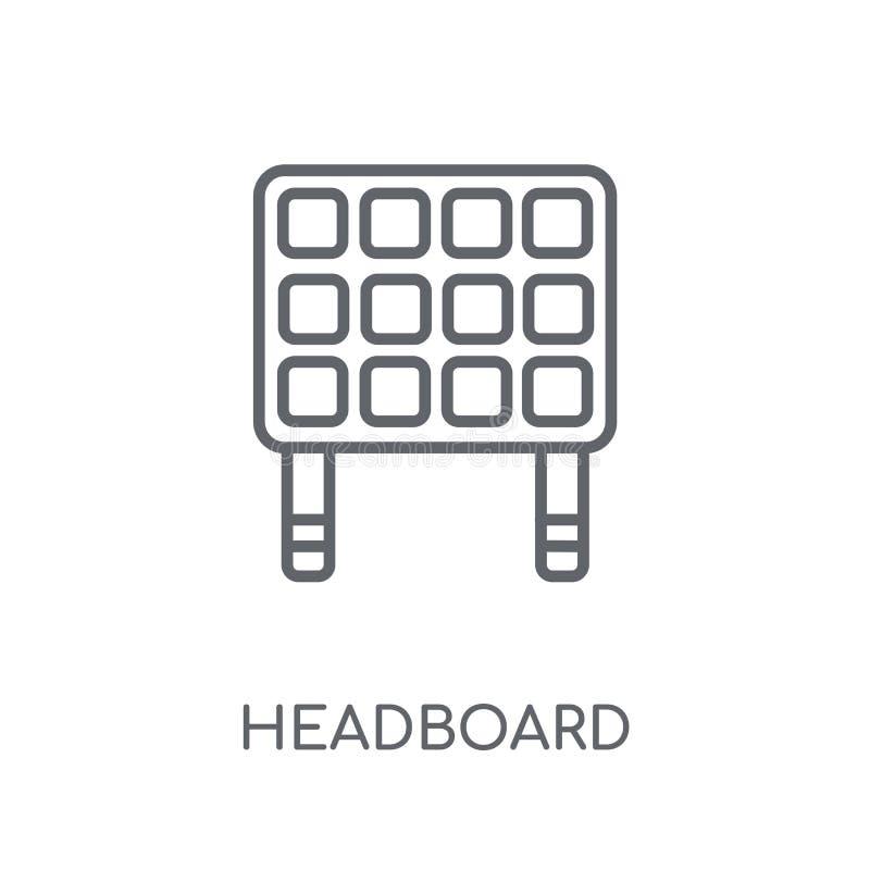Linjär symbol för huvudgavel Modernt begrepp för översiktshuvudgavellogo på stock illustrationer