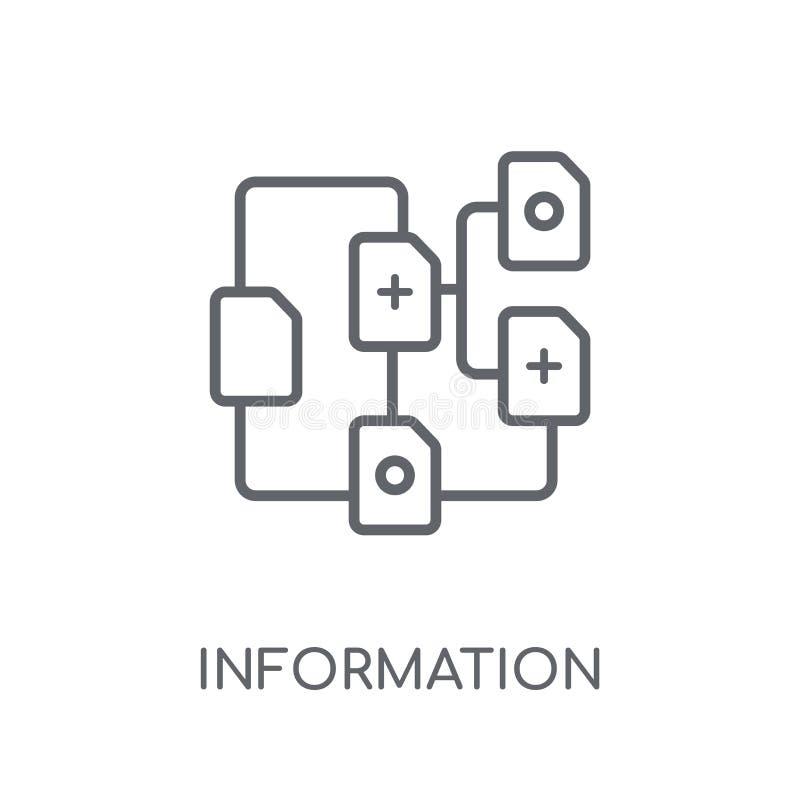 linjär symbol för informationsarkitektur Modern information om översikt royaltyfri illustrationer
