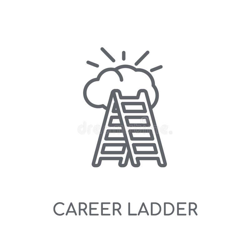 linjär symbol för karriärstege Den moderna logoen för översiktskarriärstegen lurar stock illustrationer