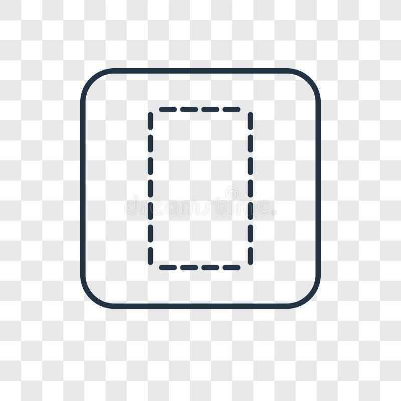 Linjär symbol för kolonnbegreppsvektor som isoleras på genomskinlig backgr stock illustrationer