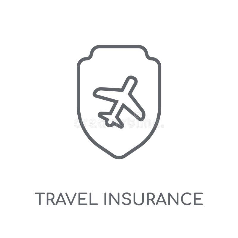 Linjär symbol för loppförsäkring Modern lo för översiktsloppförsäkring stock illustrationer