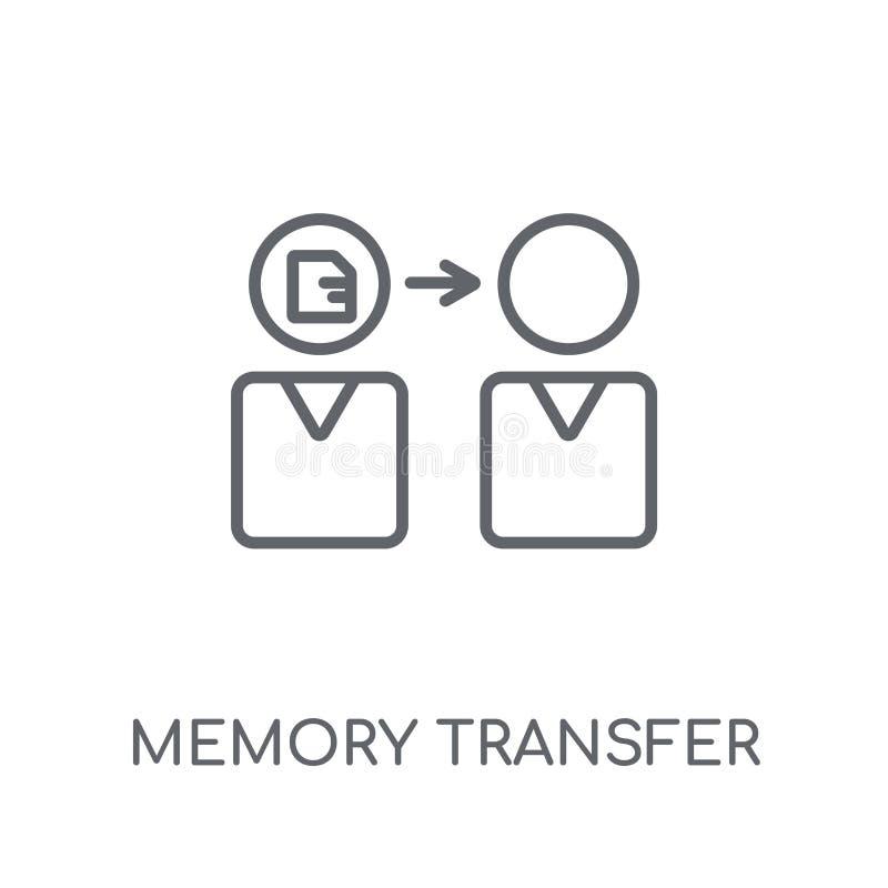 Linjär symbol för minnesöverföring Modern logo för översiktsminnesöverföring vektor illustrationer