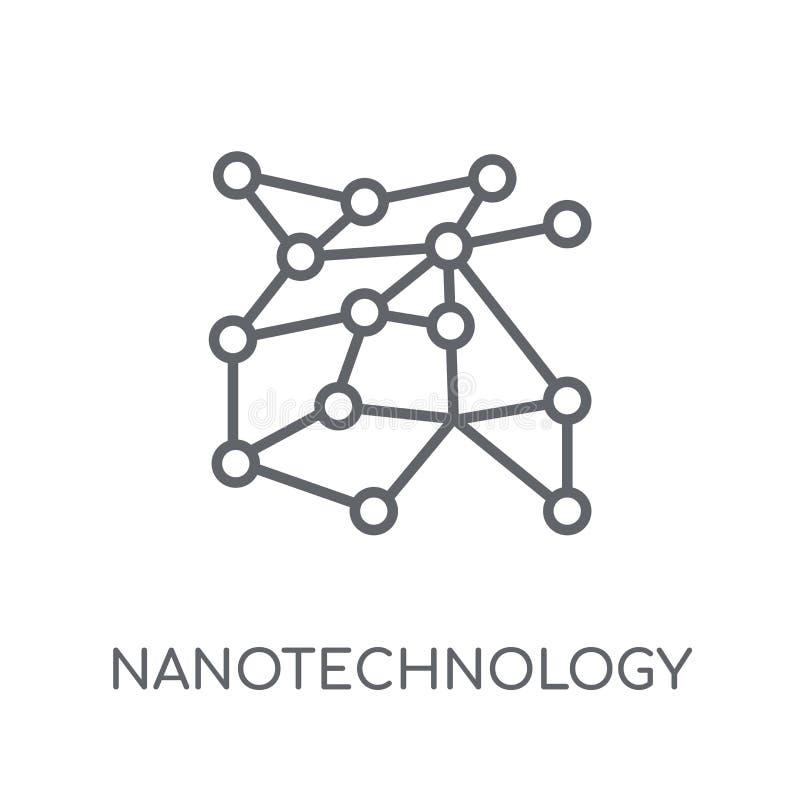 Linjär symbol för nanoteknik Modern översiktsnanotekniklogo c stock illustrationer
