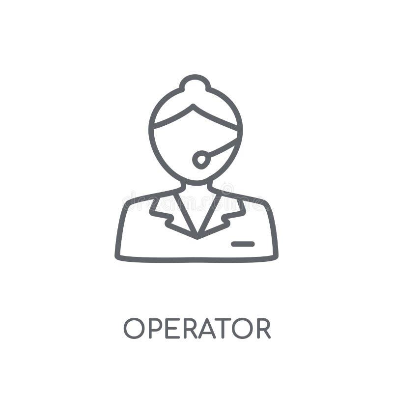 Linjär symbol för operatör Modernt begrepp för översiktsoperatörslogo på wh vektor illustrationer