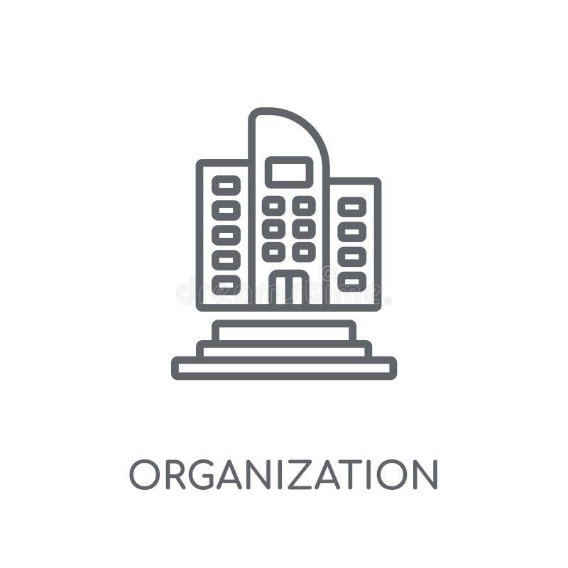 Linjär symbol för organisation Modern conce för översiktsorganisationslogo royaltyfri illustrationer
