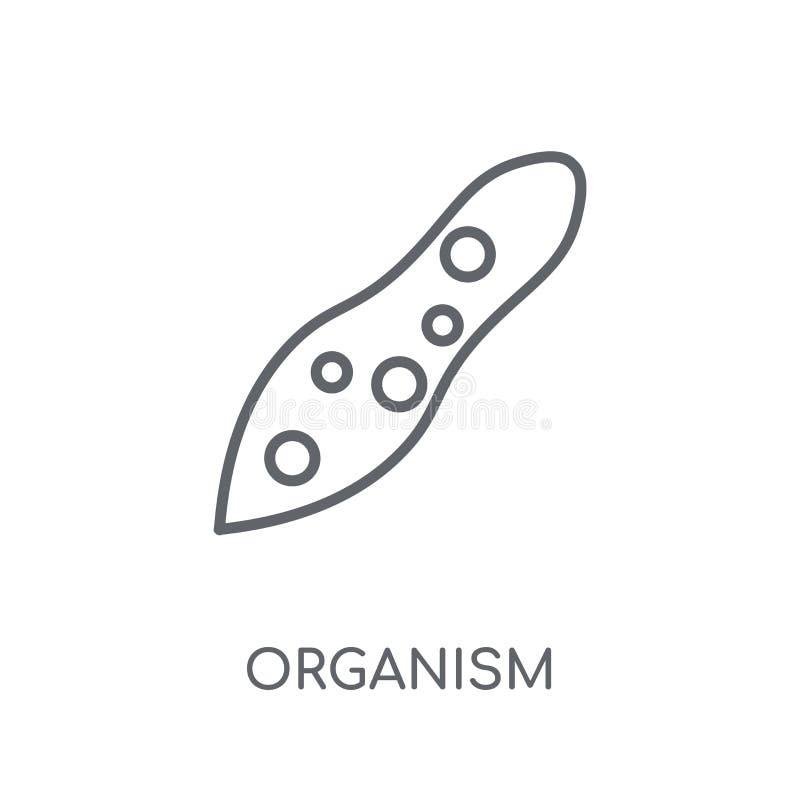 linjär symbol för organism Modernt begrepp för översiktsorganismlogo på wh stock illustrationer