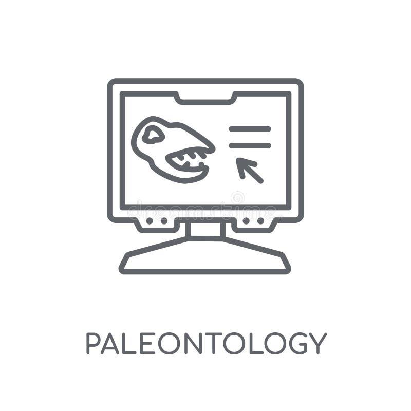Linjär symbol för paleontologi Modern conce för översiktspaleontologilogo stock illustrationer