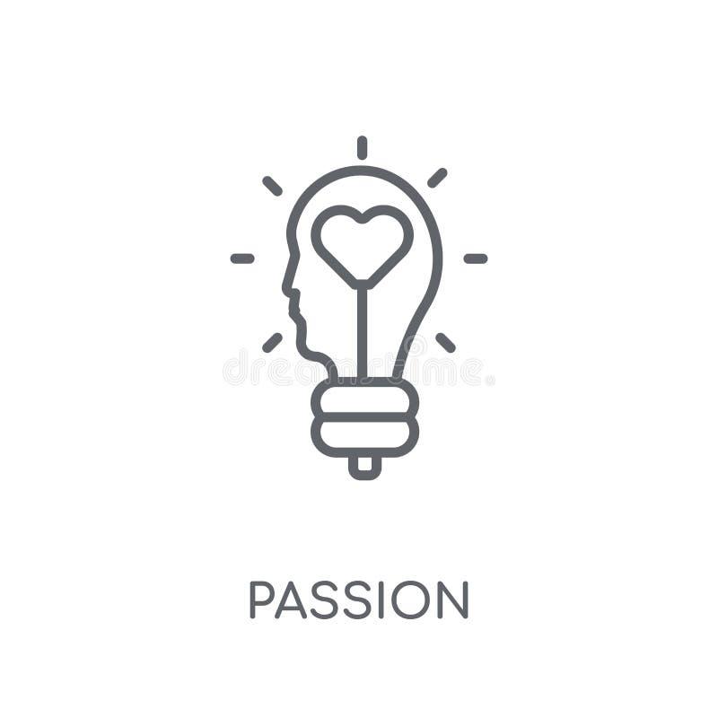 Linjär symbol för passion Modernt begrepp för översiktspassionlogo på whit stock illustrationer