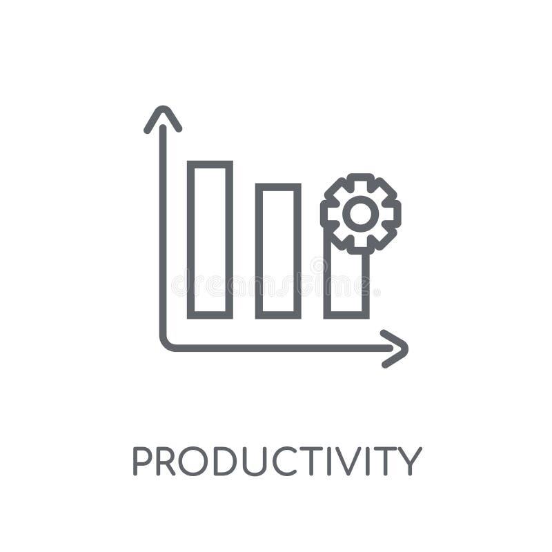 Linjär symbol för produktivitet Modern conce för översiktsproduktivitetslogo vektor illustrationer
