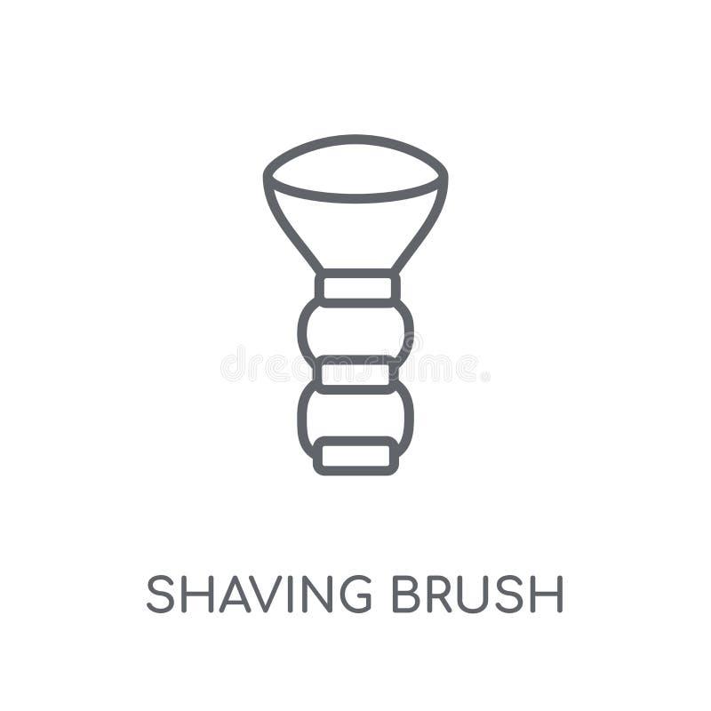 Linjär symbol för raka borste Den moderna logoen för den raka borsten för översikten lurar royaltyfri illustrationer