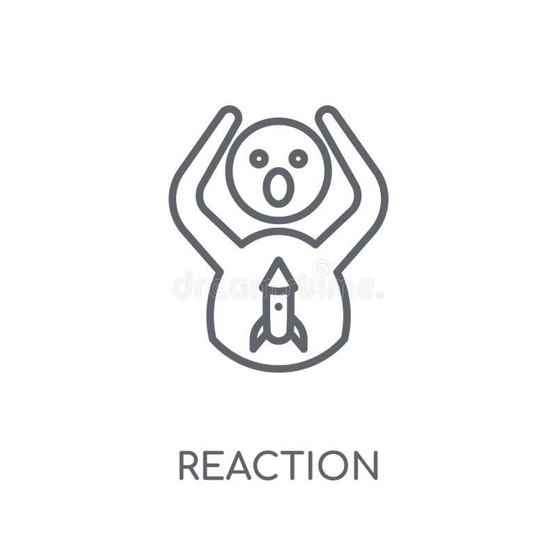 Linjär symbol för reaktion Modernt begrepp för översiktsreaktionslogo på wh vektor illustrationer